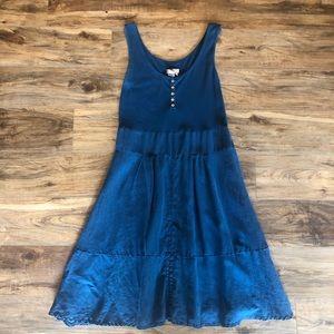 The territory ahead sleeveless blue maxi dress